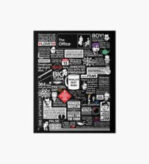 Wise Words From The Office - The Office Quotes Art Board Print