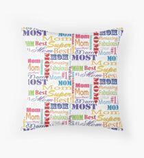 Best Mom Ever Text Pattern Floor Pillow
