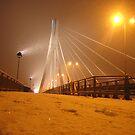 Świętokrzyski Bridge in Warsaw, Poland by Lukasz Godlewski