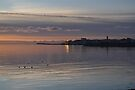 sun setting on galway, eire by gary roberts