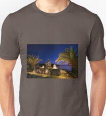 Mermaid illuminated at dusk, in Syros Greece Unisex T-Shirt