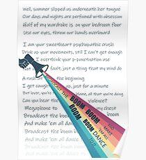 Broadcast the boom boom boom (lorde Lyrics) Poster