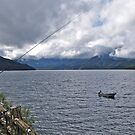 Fishing, Lake Chuzenjiko, Nikko, Japan by johnrf
