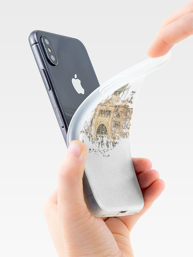 Alternate view of Flinders Street Station iPhone Case & Cover