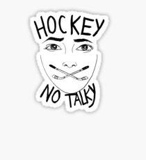 Hockey (no talky) Sticker