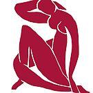 Matisse schnitt Abbildung # 2 rot aus von ShaMiLaB