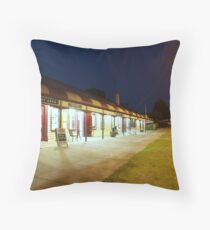 Quiet night at the hotel Throw Pillow