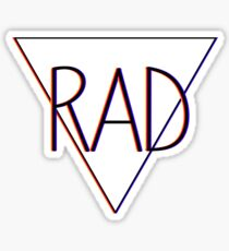 3D effect 'RAD'  Sticker