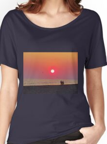 Couple Watching the Sunset Women's Relaxed Fit T-Shirt