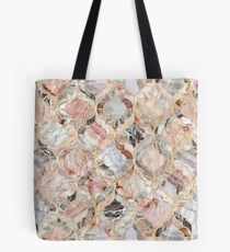 Marokkanisches Fliesenmuster Rose Marble Tote Bag