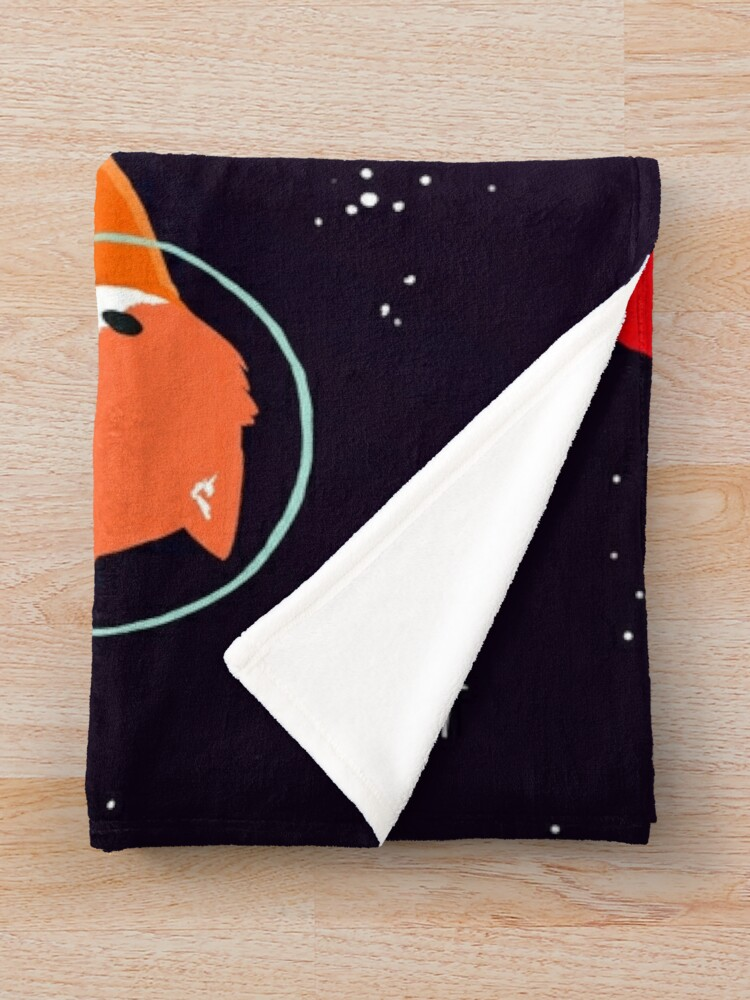 Alternate view of Space Foxes Throw Blanket