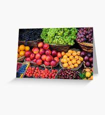 Mediterranean Fruits Greeting Card