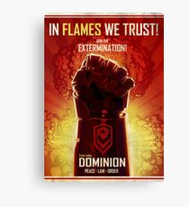 IN FLAMES WE TRUST Canvas Print