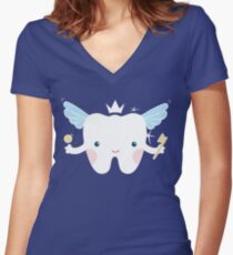 Tooth Fairy Women's Fitted V-Neck T-Shirt