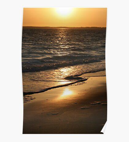 Sunset on the Beach - La Vendée Poster