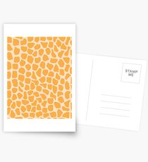 Giraffe Animal Print Postcards
