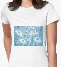 Daisies in Blue #2 Women's Fitted T-Shirt