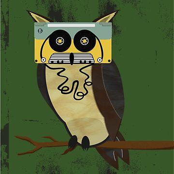 Cassette Owl by mattreno