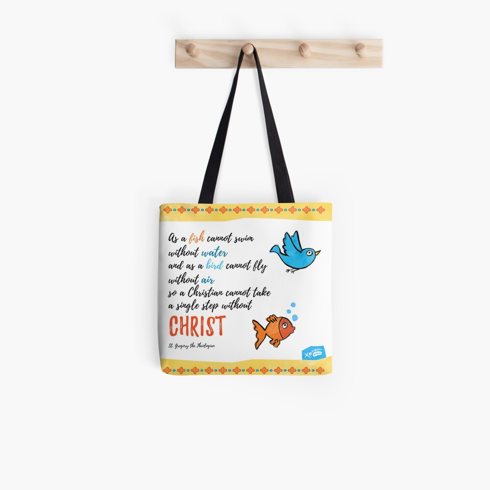St Gregory Theologian quote Tote Bag