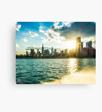 Skyline View from the Lake Michigan Canvas Print