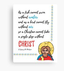 St. Gregory Theologian quote with Jesus Christ image Canvas Print
