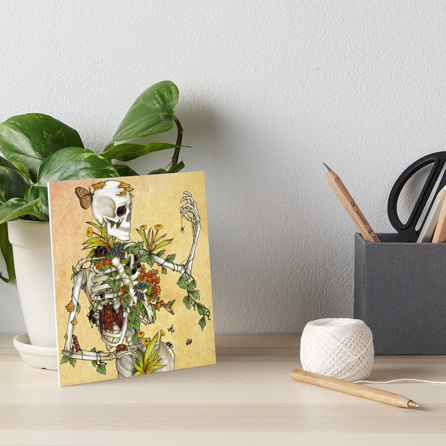 Bones and Botany Art Board Print