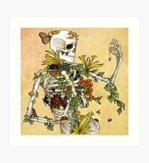 Knochen und Botanik Kunstdruck