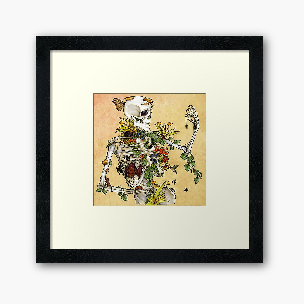 Bones and Botany Framed Art Print