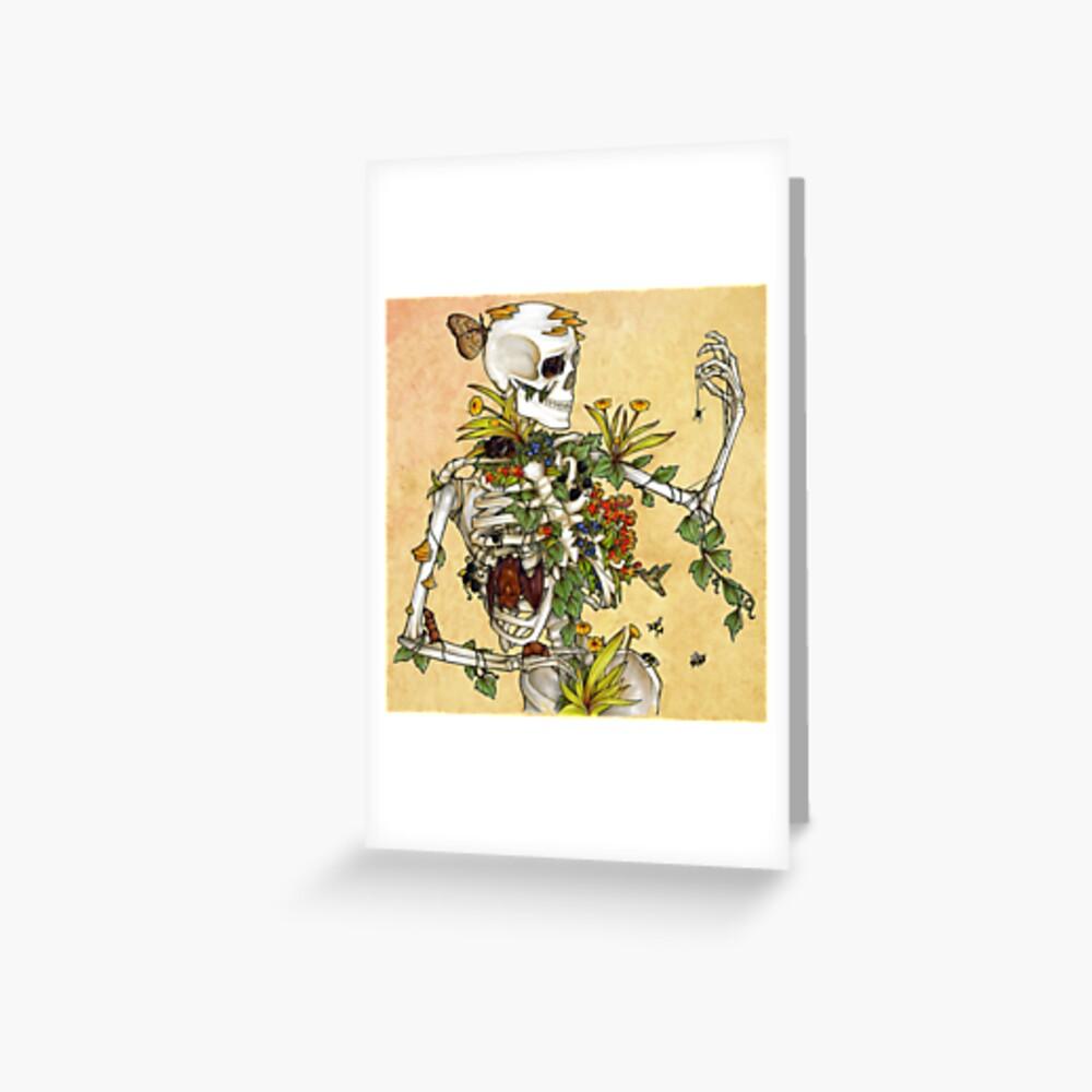 Bones and Botany Greeting Card