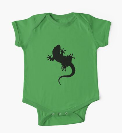 Big Lizard Gecko Silhouette Kids Clothes