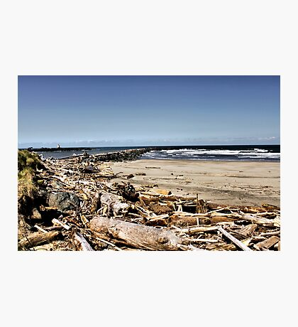 Coquille River Jetties Photographic Print