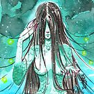 Manga T-Shirts Meerjungfrau Aquarell von psychokitty86