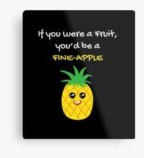 Pineapple Shirt If You Were A Fruit You'd Be A Pineapple Gift Tee Metallbild