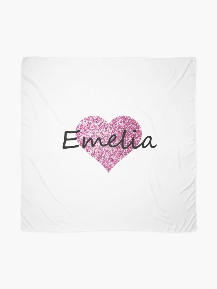 Vista alternativa de Pañuelo Corazón rosa emelia