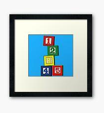 Toy Blocks Framed Print