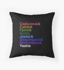 Critical Role Mighty Nein Helvetica Names Floor Pillow