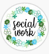 Social work Sticker