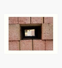 Through the brick wall Art Print