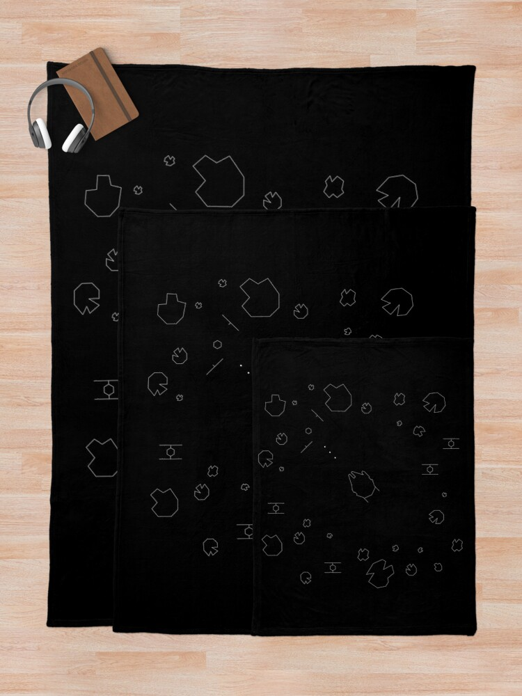Alternate view of The Falcon Asteroid Field Throw Blanket