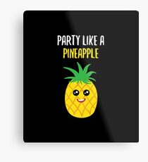 Pineapple Shirt Party Like A Pineapple Gift Tee Metallbild