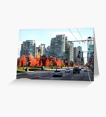 Autumn in Downtown Vancouver, Canada Greeting Card
