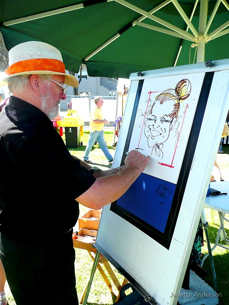 Artist at work by Janette Anderson