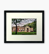 The Park Cafe Framed Print