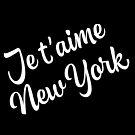 New York Themed Gifts - Je Taime New York - NYC Gift Bag Present  by LJCM