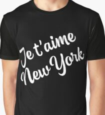 New York Themed Gifts - Je Taime New York - NYC Gift Bag Present  Graphic T-Shirt