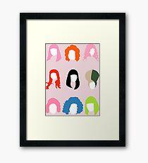 Nicki's Hair Framed Print
