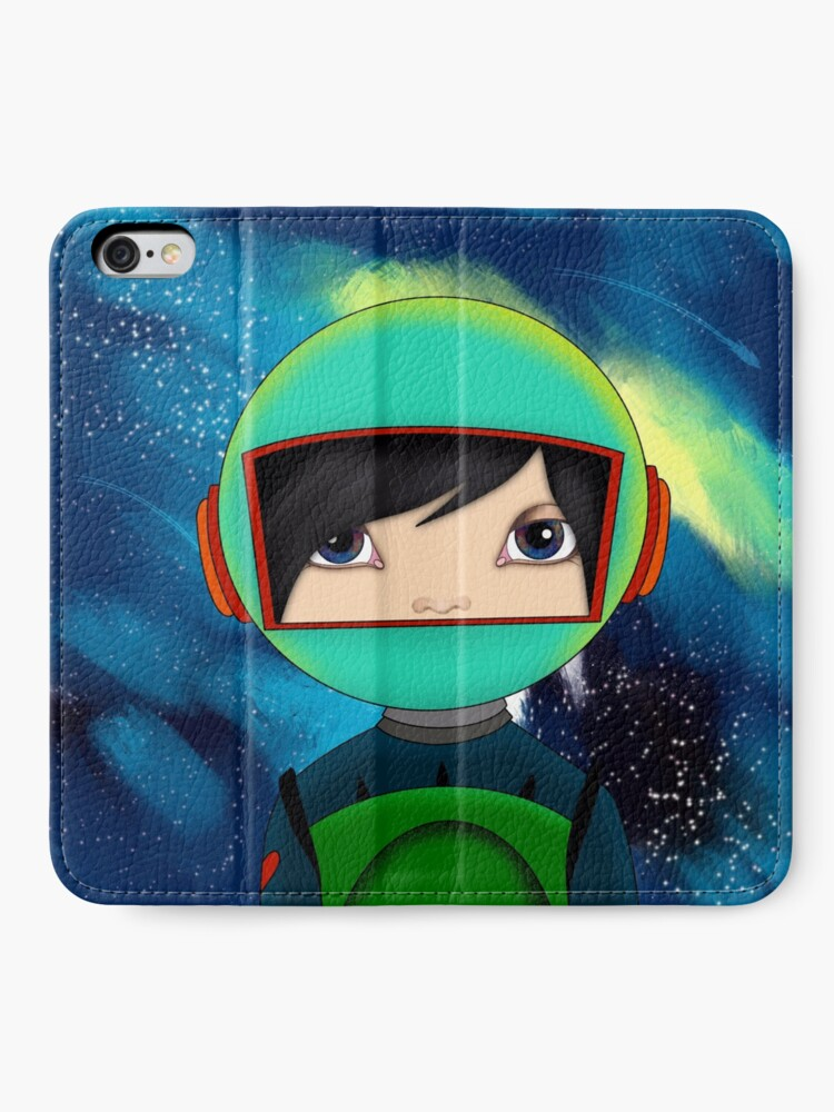 Alternate view of asteroidday - Space Girls Wear Their Heart On Their Sleeve iPhone Wallet