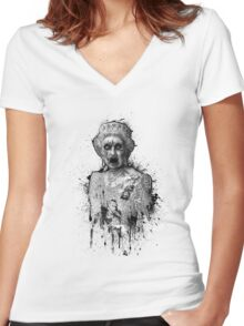 Old Dead Queen Women's Fitted V-Neck T-Shirt