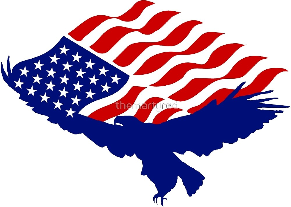 American Flag Bald Eagle Usa Patriotic Symbol By Themartyred