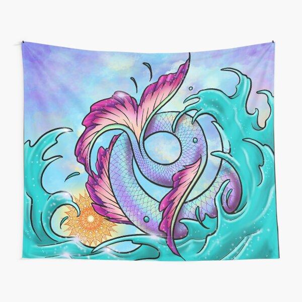 Mermaid Tail Sploosh Tapestry